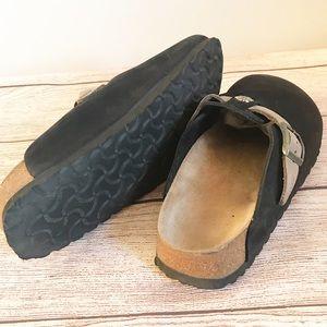 Birkenstock Shoes - Birkenstock Papillio Black Clog Mule Wi/ strap 8.5